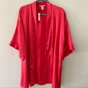 NWT Victoria's Secret Red Satin Short Robe XS